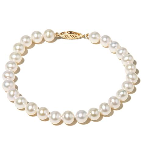 Imperial Pearls 6 5mm Pearl Bracelet 14k Gold Clasp