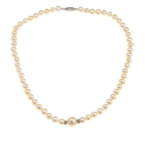 Imperial Pearls 7-12mm Cultured  Pearl Station Necklace