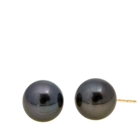 Imperial Pearls 9-10mm Cultured Tahitian Pearl Studs
