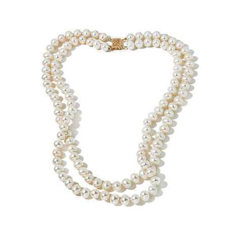 Imperial Pearls Cultured Pearl 14K 2-Row Necklace