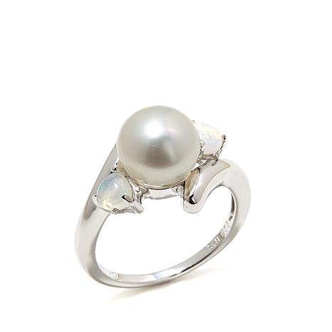 Imperial Pearls Cultured Pearl and Ethiopian Opal Ring