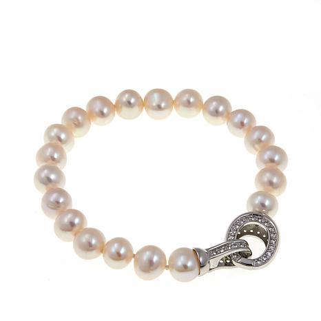 Imperial Pearls Cultured Pearl Topaz Clasp Bracelet