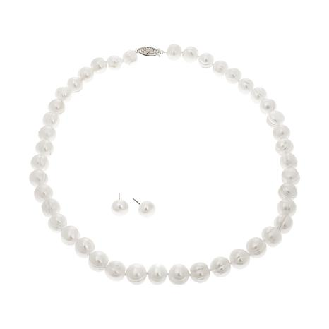 Imperial Pearls White Cultured Pearl 2pc Jewelry Set