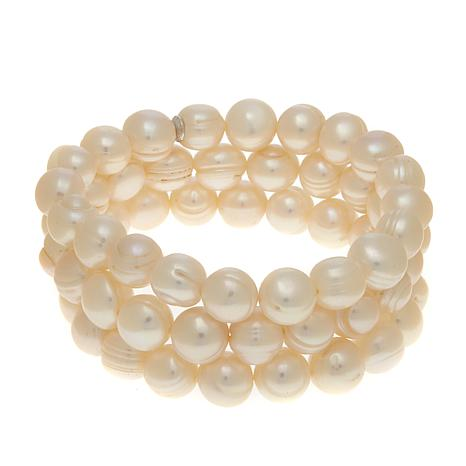 Imperial Pearls White Cultured Pearl 3pc Bracelets