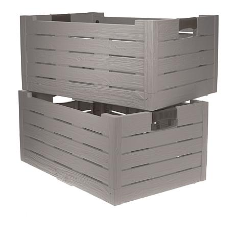 Merveilleux Improvements 2 Pack Collapsible Storage Boxes   8750688 | HSN