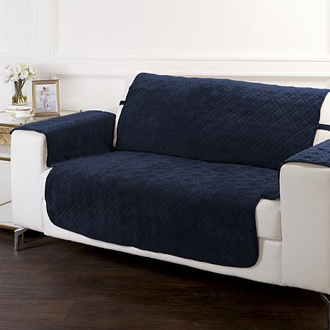 Improvements Secure Fit Plush Loveseat Protector
