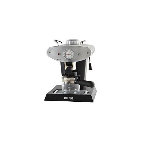 IMUSA Gourmet Espresso and Cappuccino Maker 4-Cup - Silver