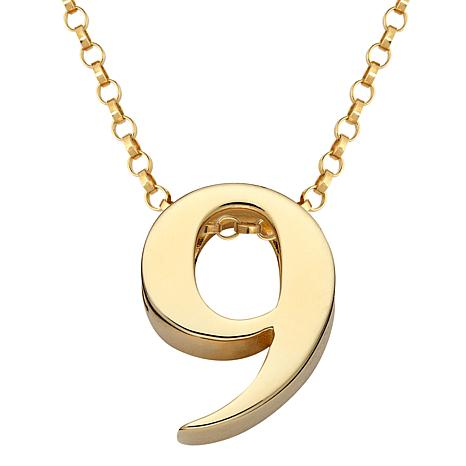 Initially Yours Number Pendant with Chain