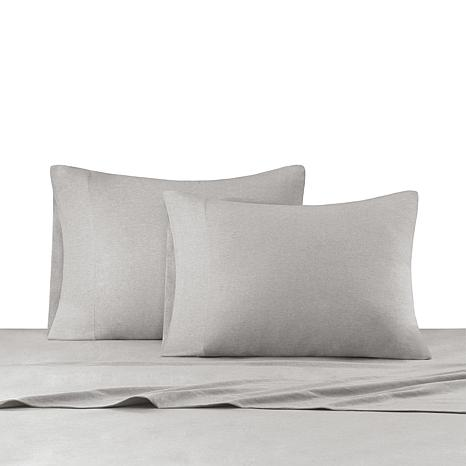 INK+IVY Heathered Cotton Jersey Gray Sheet Set - Twin