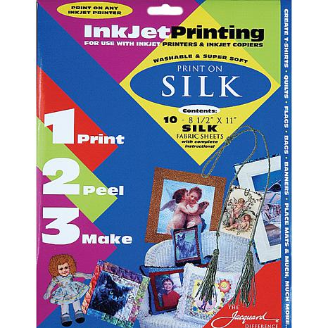 Inkjet Print-On Silk Fabric Sheets 10-pack