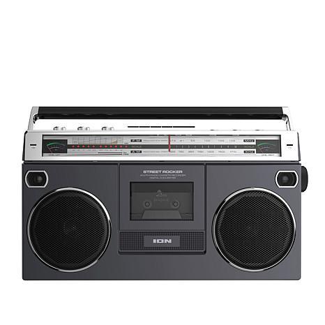 ION Audio Street Rocker Boombox w/Cassette Player, Radio & Bluetooth