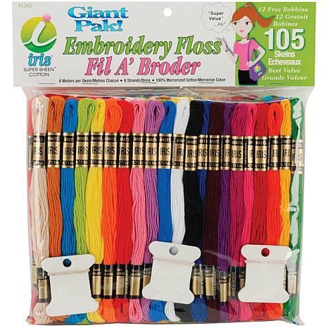 Iris Cotton Embroidery Floss Jumbo Pack - 105 Skeins