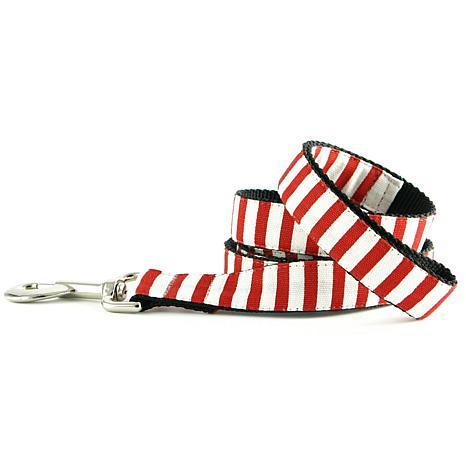 Isabella Cane Candy Cane Stripe Dog Leash - 5ft