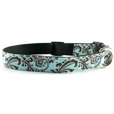 Isabella Cane Cotton Dog Collar - ChocoBlue M