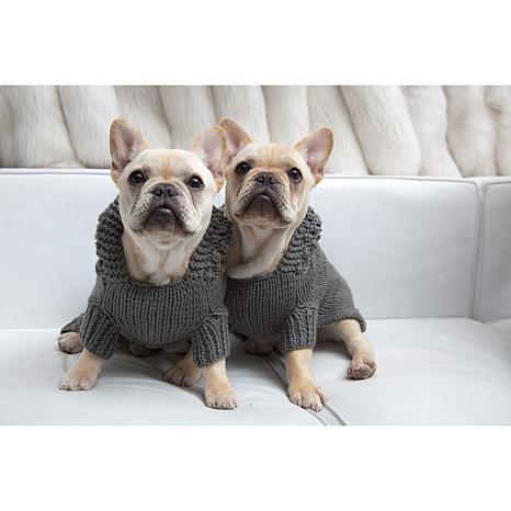 Isabella Cane Doggie Hoodie Sweater - XL/Gray
