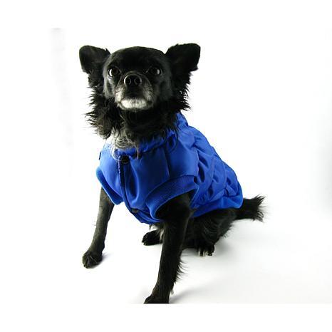 Isabella Cane Doggy Puffer Jacket Blue - Size 18
