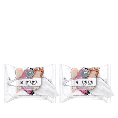 IT Cosmetics 2-pack Bye Bye Makeup 3-in-1 Anti-Aging Wipes