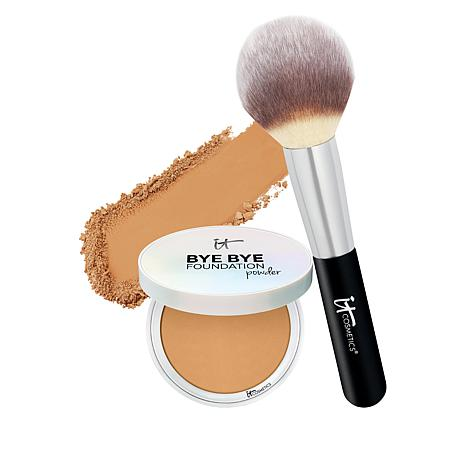 IT Cosmetics Bye Bye Foundation Finishing Powder with Brush