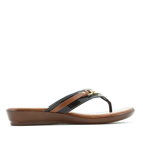 Italian Shoemakers Lock Thong Sandal