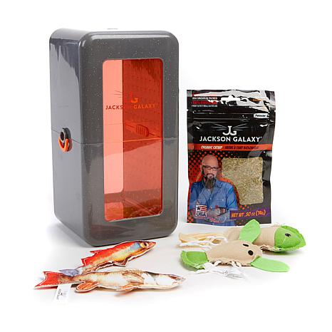 Jackson galaxy vault cat toy marinator bundle 8474524 hsn for Jackson galaxy cat toys