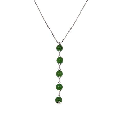 laura in jade mini necklace jewelry web trace grande products green pendant rose gold oval