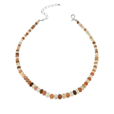 "Jay King 18"" Multicolored Moonstone Graduated Bead Necklace"