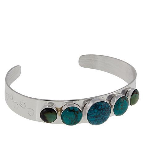 Jay King 5-Stone Hubei Turquoise Sterling Silver Cuff Bracelet