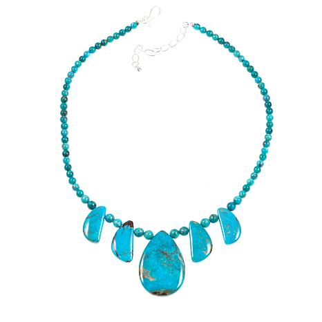 "Jay King 7 Peaks Turquoise 18-1/4"" Sterling Silver Necklace"