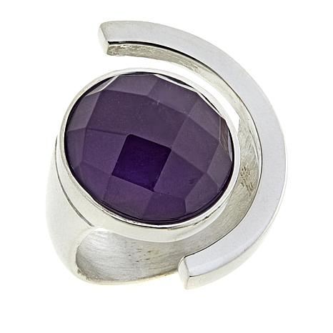 Jay King Amethyst Open-Shank Sterling Silver Ring