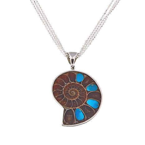 sterling silver pendant authentic zuni indian inlay multicolor