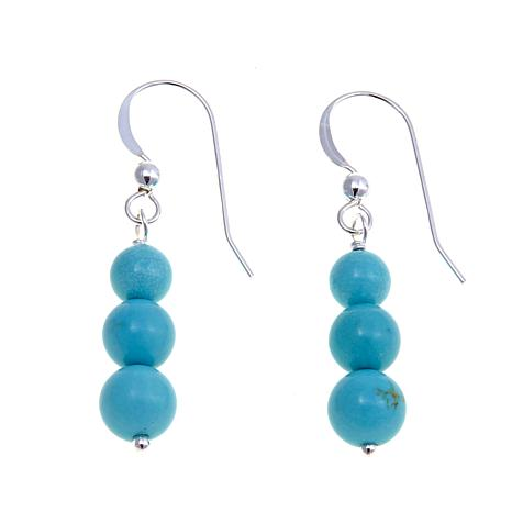 Jay King Andean Blue Turquoise Bead Drop Earrings