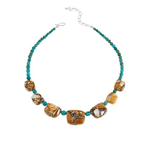"Jay King Angel Peak Turquoise and Brecciated Opal 18"" Necklace"