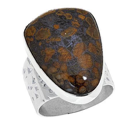 Jay King Australian Confetti Opal Sterling Silver Ring