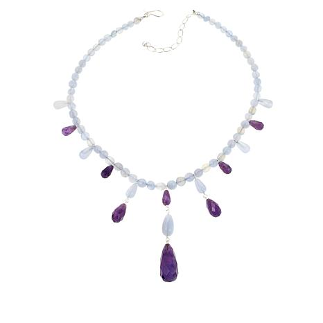 "Jay King Blue Agate and Amethyst 18"" Necklace"
