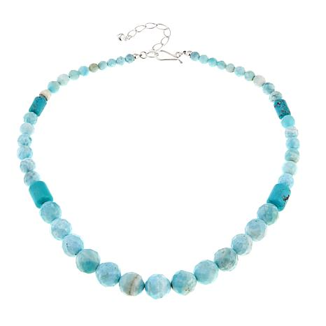 "Jay King Blue Aragonite and Turquoise Bead 20"" Necklace"