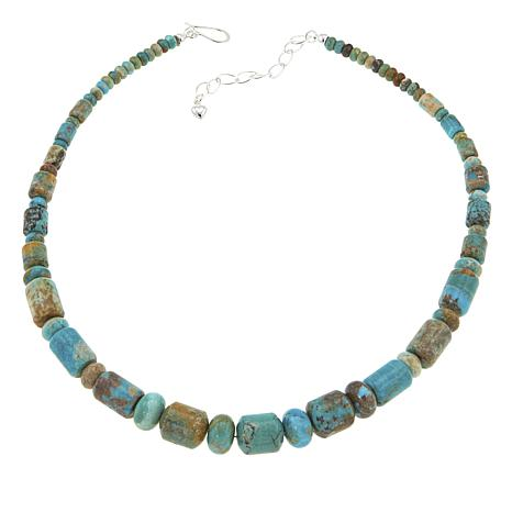 """Jay King Blue Ridge Turquoise Bead 18-1/4"""" Sterling Silver Necklace"""