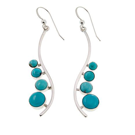 Jay King Campitos Turquoise Sterling Silver Drop Earrings