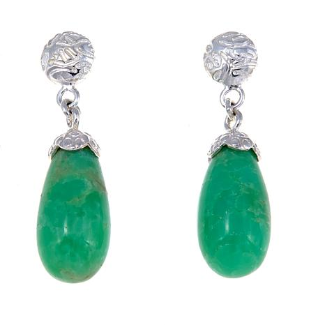 Jay King Chrysoprase Drop Sterling Silver Earrings