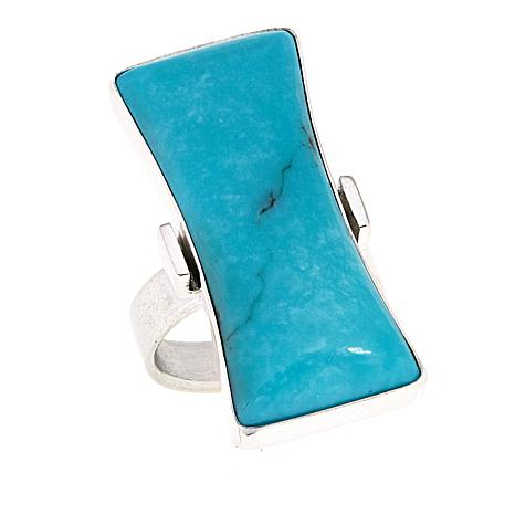 Jay King Contemporary Campitos Turquoise Sterling Silver Ring