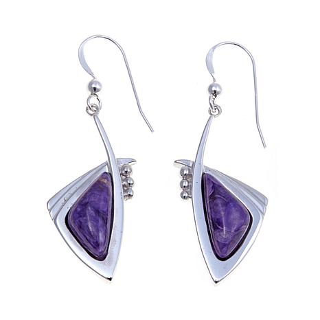 Jay King Contemporary Purple Charoite Earrings