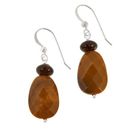Jay King Ethiopian Autumn Opal in Chalcedony Drop Earrings