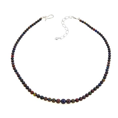 "Jay King Ethiopian Black Opal 18-1/4"" Necklace"