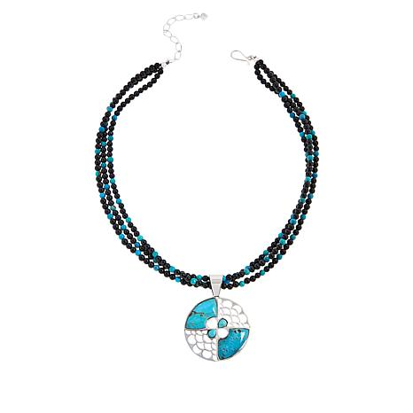 Jay King Gallery Collection Andean Blue Turquoise Pendant and Necklace