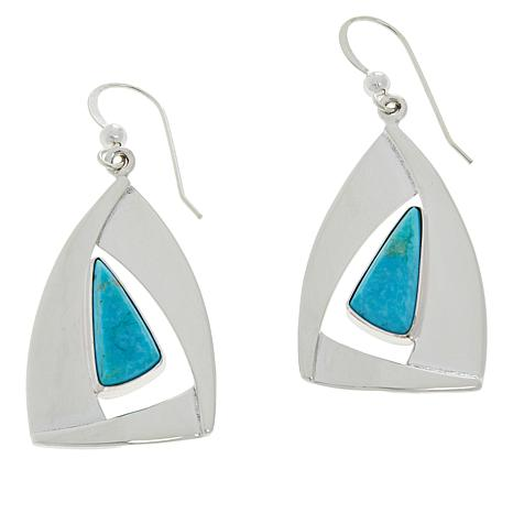 Jay King Gallery Collection Sonoran Blue Turquoise Earrings