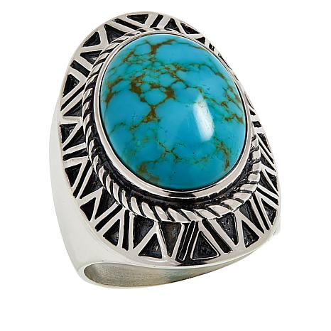 Jay King Gallery Collection  Sonoran Turquoise Oval Ring