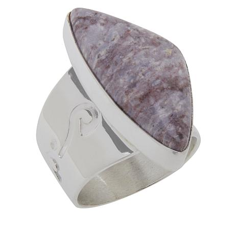 Jay King Gallery Collection Sterling Silver Violet Opal Freeform Ring