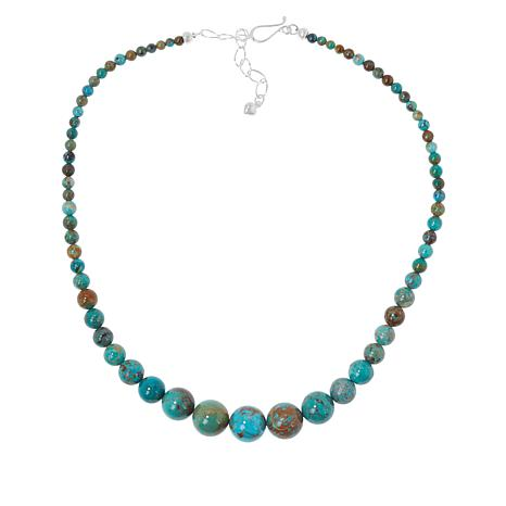 Jay King Golden Dragon Mountain Turquoise Graduated Bead Necklace