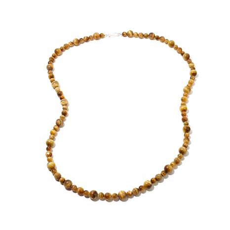 "Jay King Golden Tiger's Eye Bead 36"" Necklace"