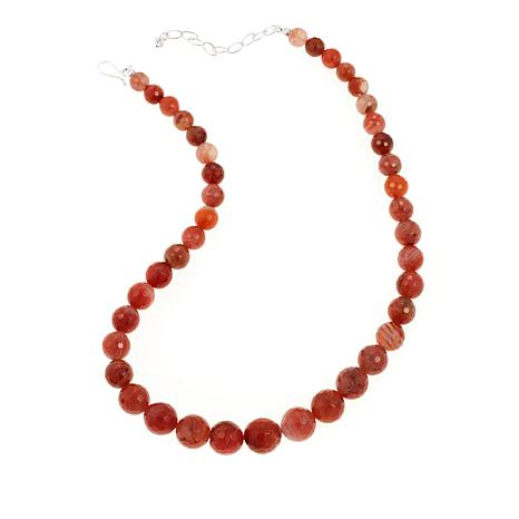 "Jay King Graduated Carnelian Bead 20"" Necklace"