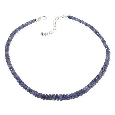 "Jay King Graduated Tanzanite Bead 18"" Necklace"